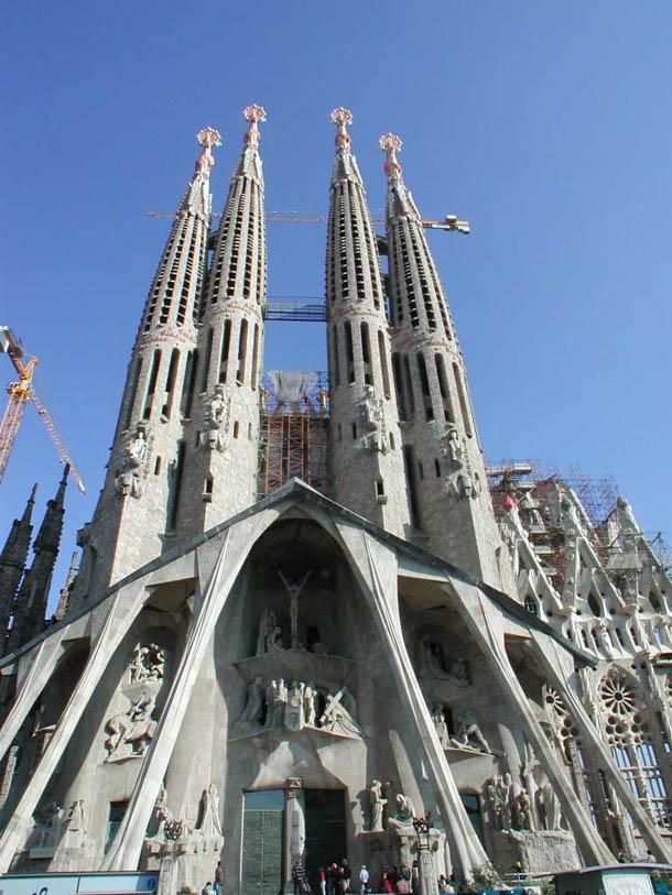 Sagrada Familia Front View, Barcelonia, Catalonia