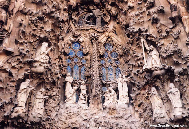 Sagrada Familia Windows Architecture, Barcelona