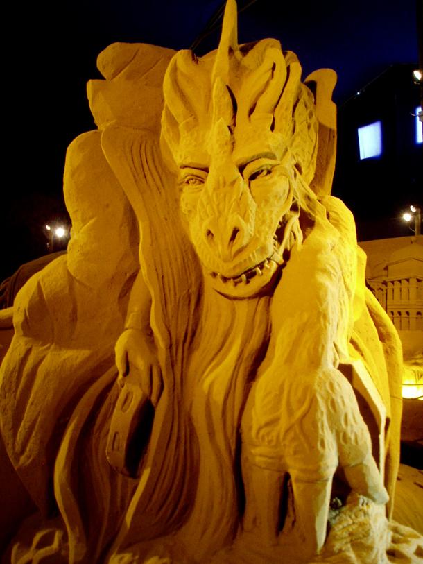 Sand Sculpture, Belgium
