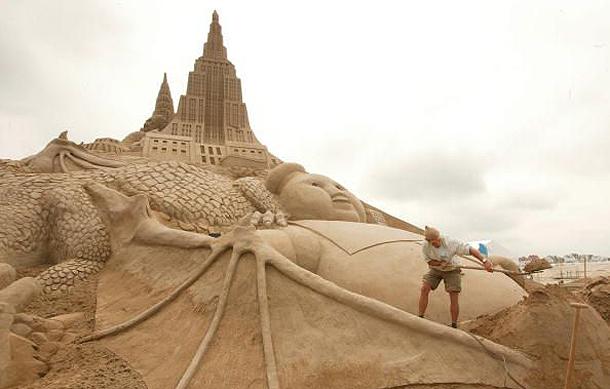 Sand Sculpture Landscape, Belgium