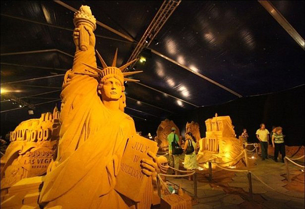 Sand Sculpture - Statue of Liberty