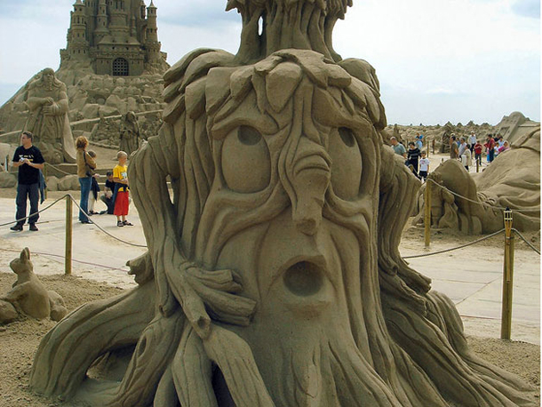 Sand Sculpture Tree, Belgium, Blackenberge Festival