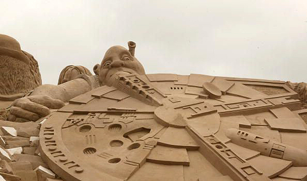 Shrek Sand Sculpture, Belgium