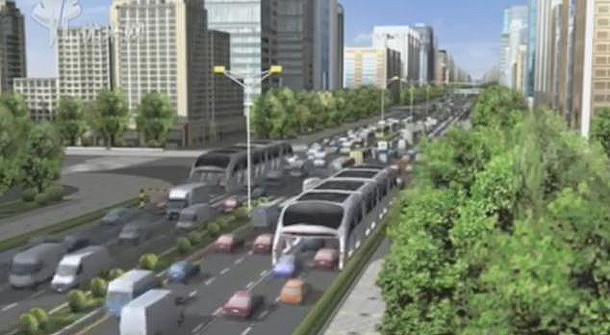 Traffic Jam Solved in China With 3D Express Coach