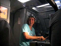 David Guetta Mixing During a Party Plane