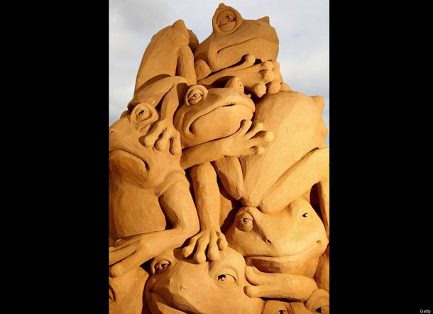 Creepy Crawlies Sand Sculpting Exhibiton 2010