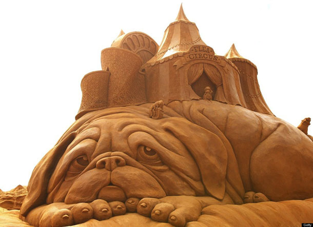 Creepy Crawlies Sand Sculpting Exhibiton in Australia