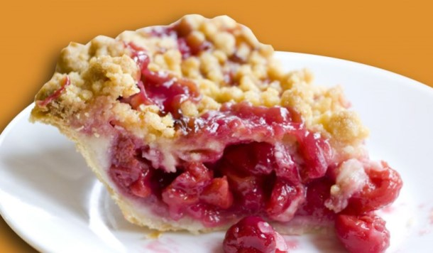 Cherry crumb pie From Grand Traverse Pie Company in Traverse City, Michigan
