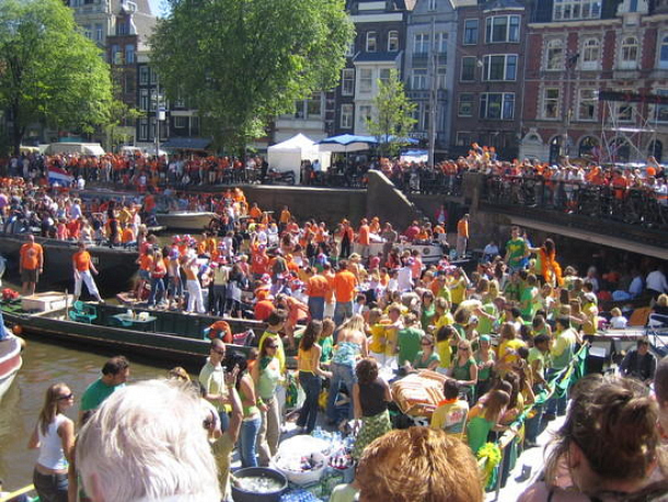 Amsterdam Orange Festival or Queen's Day, April, 30th