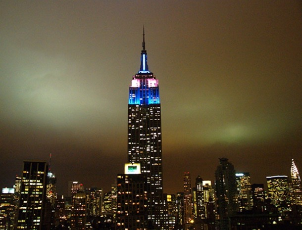 Empire State Building, New York, 80th Birthday in 2011