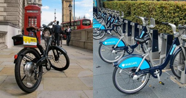Electric Bikes for Rent in London - Source: http://www.bbc.com