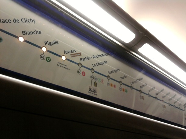 Paris Metro Line Map