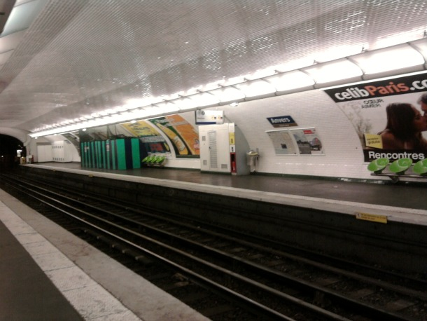 Paris Metro Station Anvers