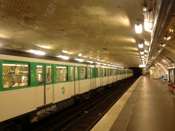 Paris Metro Station Platform