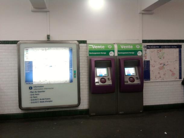 Paris Tickets Machine