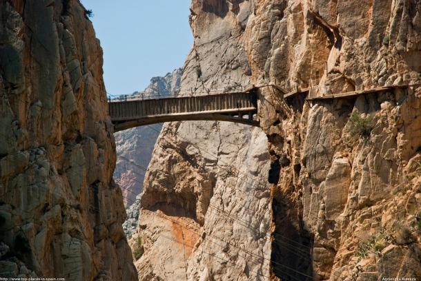 El Chorro Caminito del Rey Bridge - Source top-places-in-spain