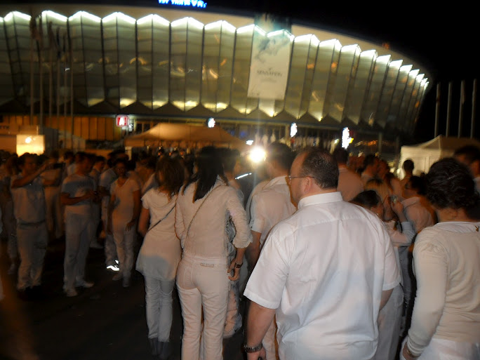 People Dressed in White at White Sensation Bucharest 2012